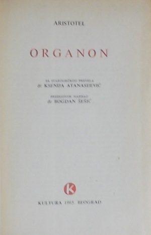 Aristotel Organon