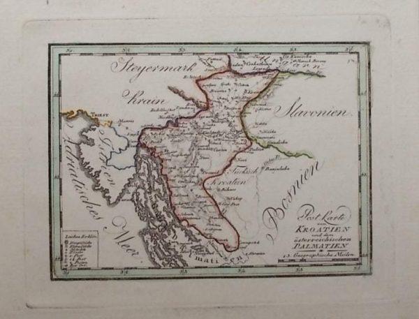 Post Karte von Kroatien