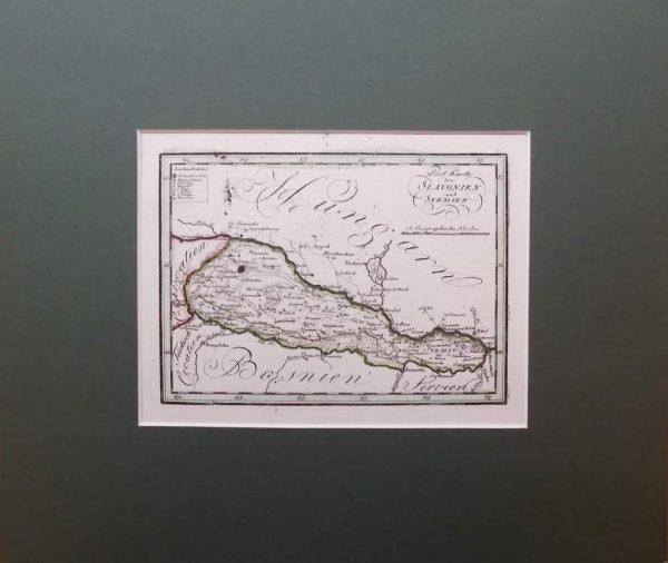 Post Karte von Slavonien und Syrmien