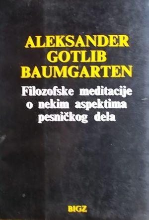 Baumgarten: Filozofske meditacije o nekim aspektima pesničkog dela