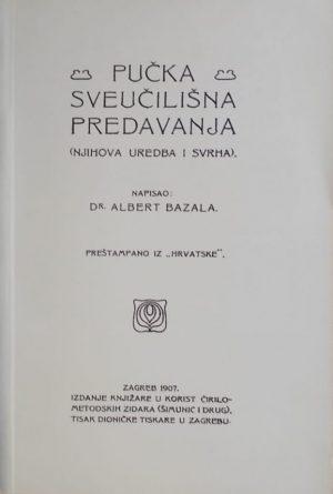 Bazala: Pučka sveučilišna predavanja