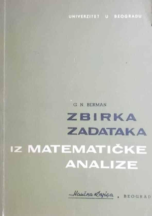 Berman: Zbirka zadataka iz matematičke analize