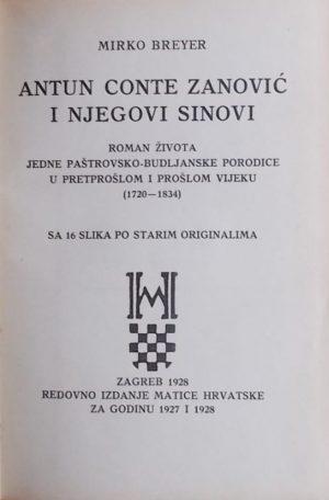 Breyer: Antun Conte Zanović i njegovi sinovi