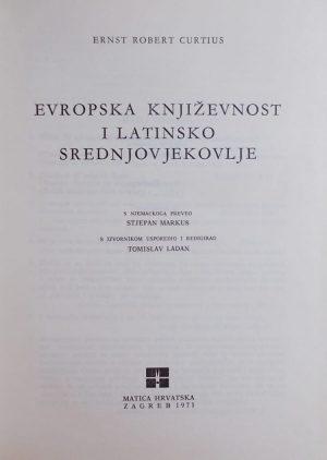 Curtius-Evropska književnost i latinsko srednjovjekovlje