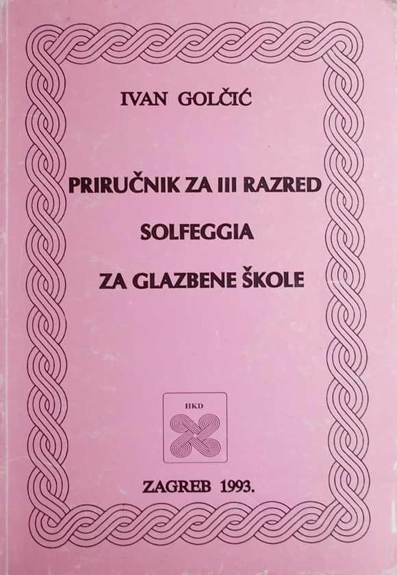 Golčić-Priručnik za 3 razred solfeggia