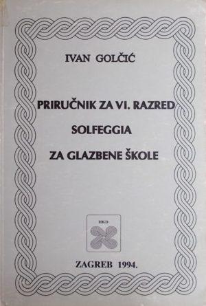 Golčić-Priručnik za VI. razred solfeggia