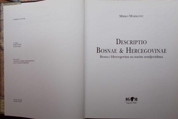 Marković: Descriptio Bosnae & Hercegovinae (1)