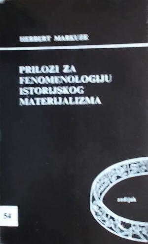 Markuze: Prilozi za fenomenologiju istorijskog materijalizma