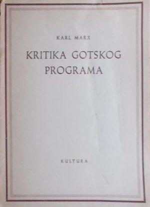 Marx: Kritika Gotskog programa