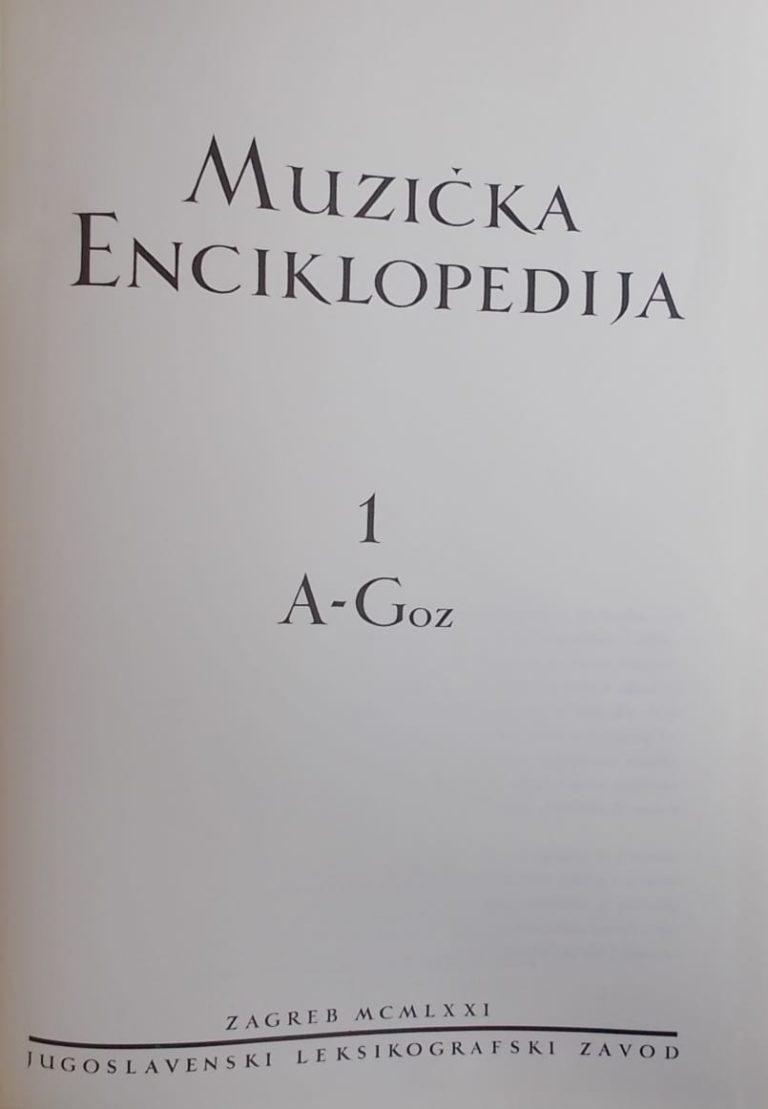 Muzička enciklopedija