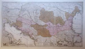 Novissima Tabula Regni Hungariae et Regionum Quondamei Unitarum ut Transilvania, Valachiae, Moldaviae...