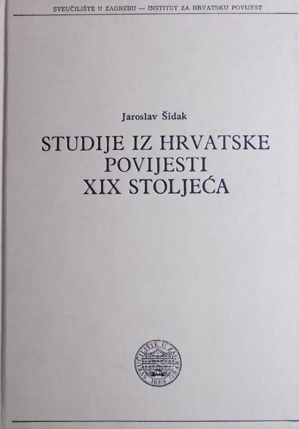 Šidak: Studije iz hrvatske povijesti 20 stoljeća