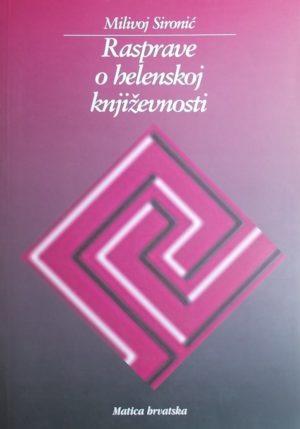Sironić-Rasprave o helenskoj književnosti
