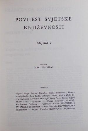 Povijest svjetske književnosti, knjiga 3