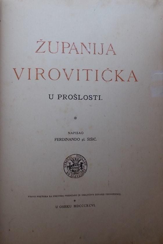 Šišić Županija virovitička u prošlosti