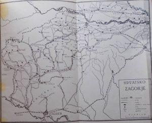 Vodic kroz Hrvatsko Zagorje karta