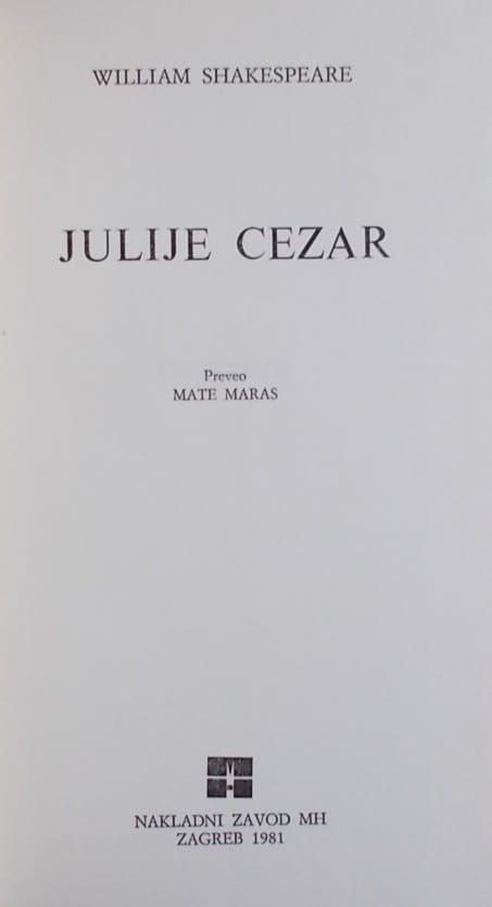Shakespeare-Julije Cezar