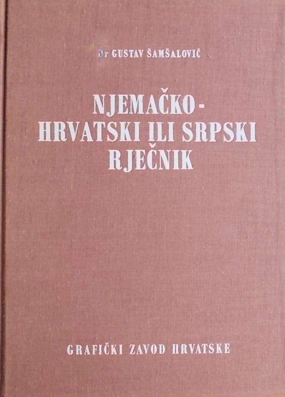 Šamšalović: Njemačko-hrvatski ili srpski rječnik