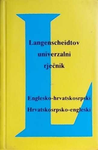 Englesko-hrvatskosrpski Hrvatskosrpsko-engleski
