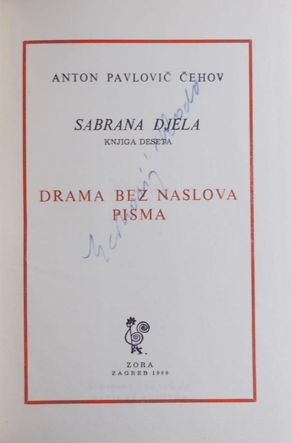 Čehov: Drama bez naslova / Pisma