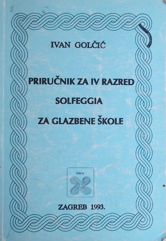 Golčić: Priručnik za 4 razred solfeggia za glazbene škole