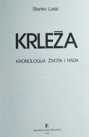 Lasić-Krleža kronologija života i rada