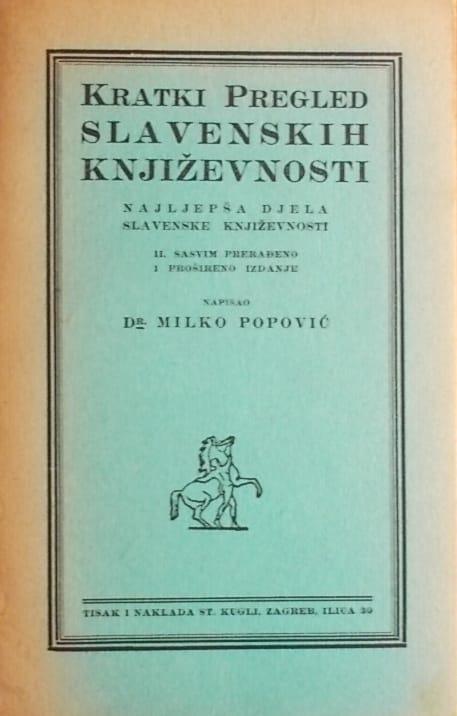 Popović-Kratki pregled slavenskih književnosti
