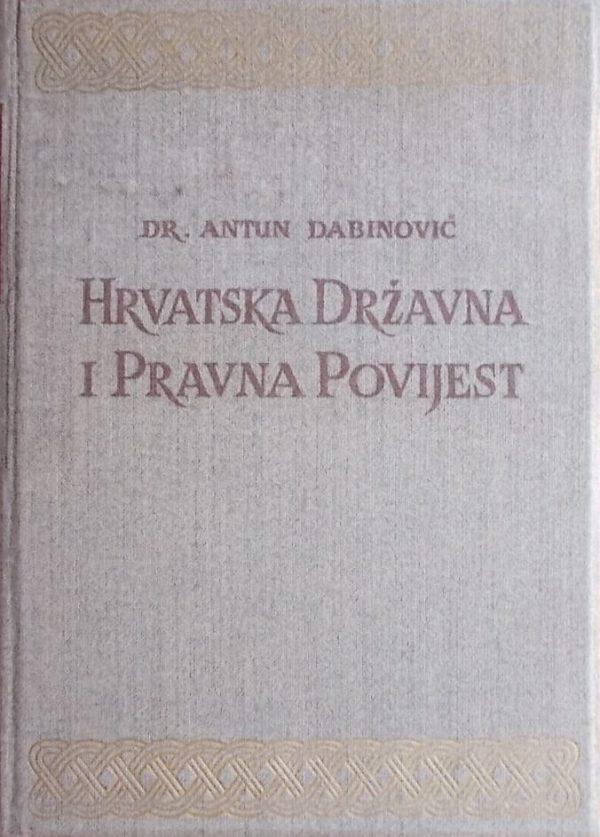 Dabinović-Hrvatska državna i pravna povijest