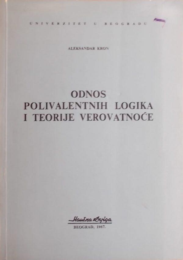 Kron: Odnos polivalentnih logika i teorije verovatnoće