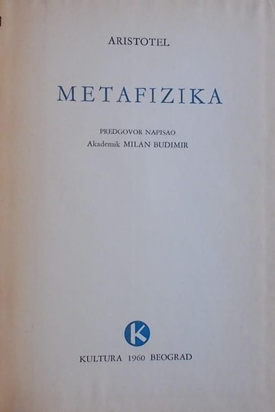 Aristotel: Metafizika