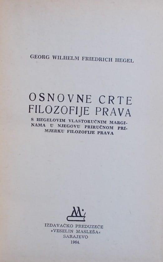 Hegel-Osnovne crte filozofije prava