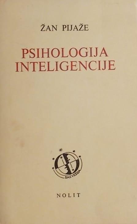 Pijaže-Psihologija inteligencije