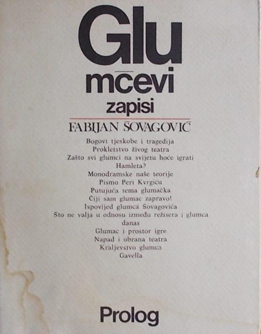 Šovagović-Glumčevi zapisi