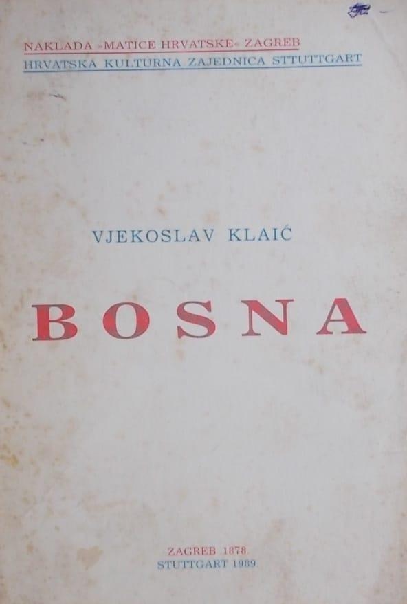 Klaić: Bosna