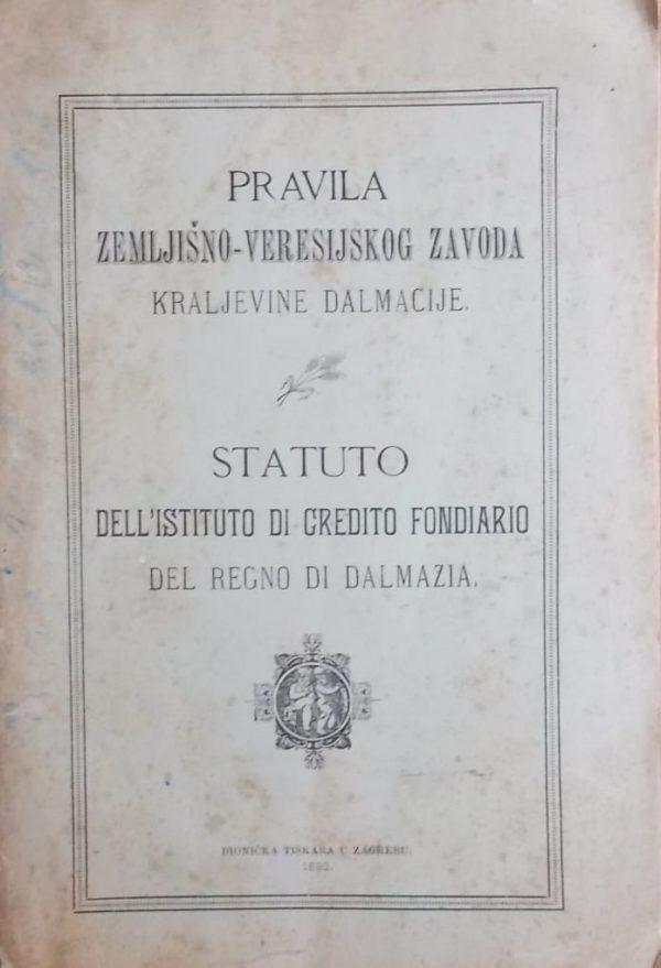 Pravila zemljišno-veresijskog zavoda kraljevine Dalmacije