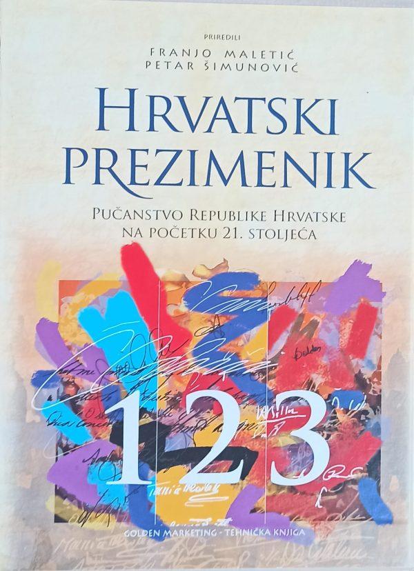 Maletić, Šimunović: Hrvatski prezimenik