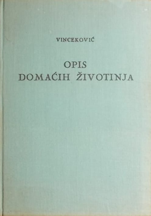 Vinceković: Opis domaćih životinja