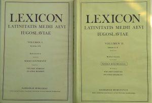 Kostrenčić: Lexicon latinitatis medii aevi Iugoslaviae 1-2