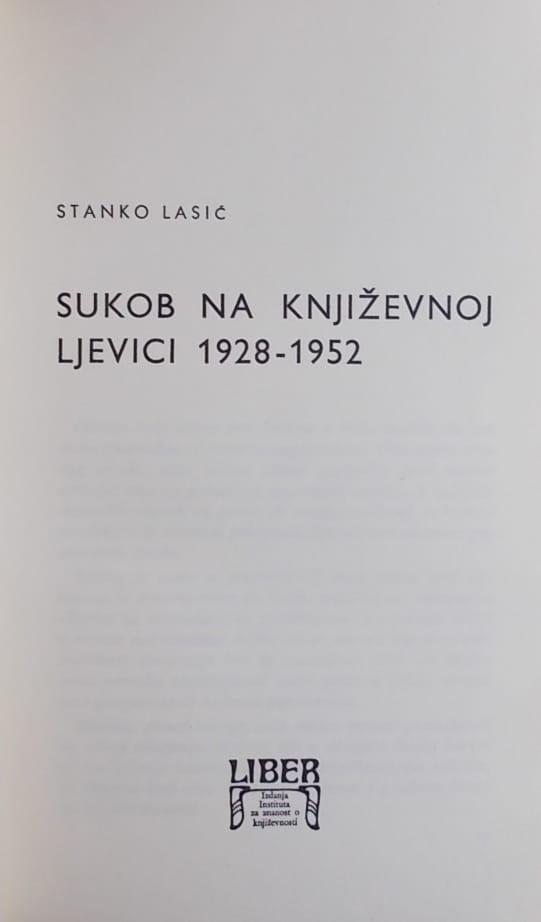 Lasić-Sukob na književnoj ljevici