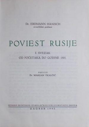 Hanisch-Poviest Rusije