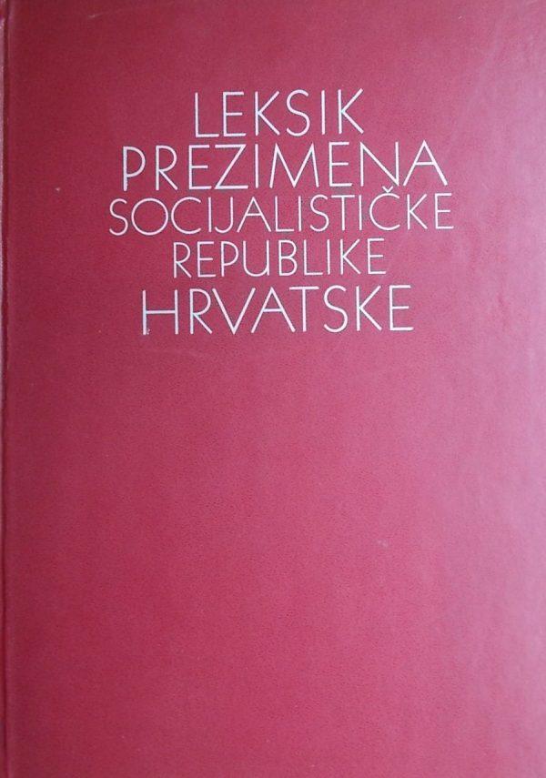 Leksik prezimena SR Hrvatske