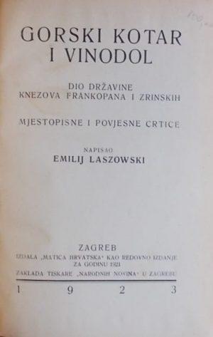 Laszowski: Gorski kotar i Vinodol