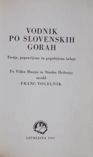 Vodnik po slovenskih gorah