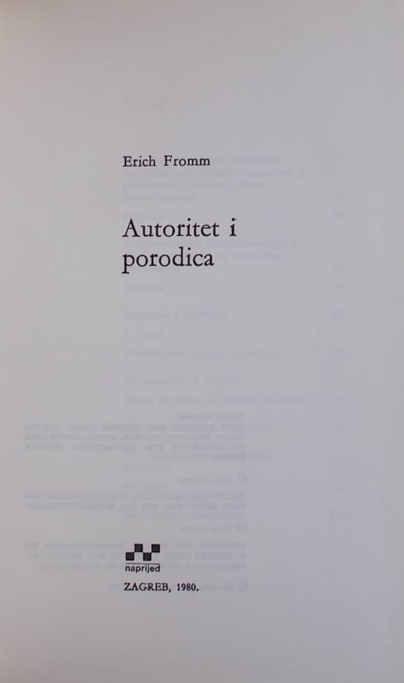 Fromm: Autoritet i porodica