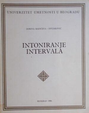 Radičeva-Divjaković: Intoniranje intervala