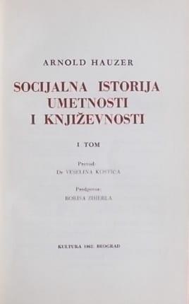 Hauzer-Socijalna istorija umetnosti i književnosti