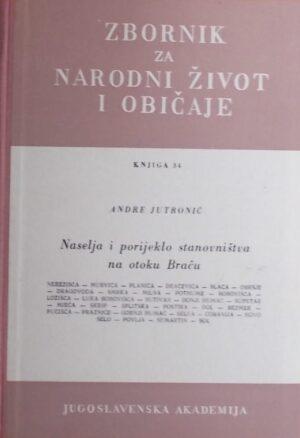 Jutronić: Naselja i porijeklo stanovništva na otoku Braču