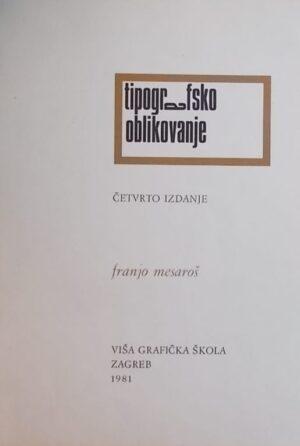 Mesaroš: Tipografsko oblikovanje