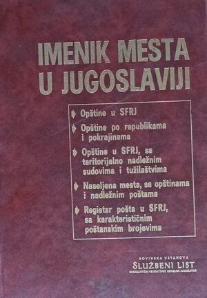 Imenik mesta u Jugoslaviji