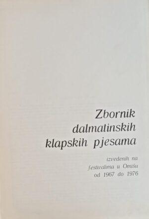 Zbornik dalmatinskih klapskih pjesama